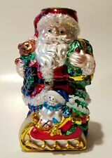 """Mercury Glass Christmas Santa Claus [Tealight] Candle Holder 6.5"""" by Traditions"""