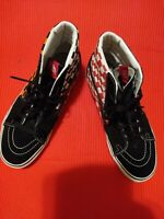 VANS  T381 LEATHER 50th CHECKERBOARD MULTI-COLOR HIGH TOPS SIZE 9 Rare and Nice