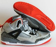 NIKE AIR JORDAN SPIZIKE iD SILVER-BLACK-ORANGE SZ 13  [605236-996]