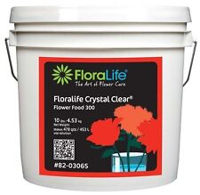 10 lbs Fresh cut Flowers Food Floralife 300 Clear Hydrate Nourish 1 Pail Sealed