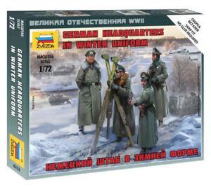 Zvezda 1/72 Figures - German Headquarters in Winter Uniform Z6232
