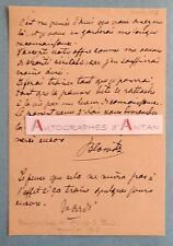 L.A.S 1887 Henri Opper de Blowitz Journaliste TIMES né à Blovice Empire Autriche