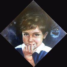 """Neverland"", ""Peter"" - PZ UNICO - olio tela 40x40 - trittico Peter Pan"