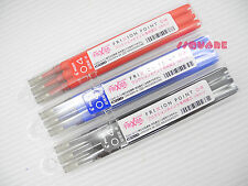 (Tracking no.) 18 Refills for Pilot FriXion 0.4mm Rollerball Gel pen, 3 Colors