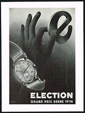 1940's Vintage 1948 Election Grand Prix Watch Mid Century Modern Art Print AD