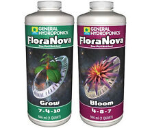General Hydroponics FloraNova Grow, Flora Nova Bloom 1Qt Quart Bottles