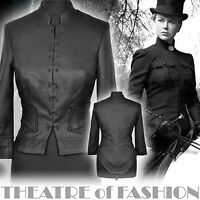 KATE MOSS TOPSHOP SILK TAILCOAT RIDING JACKET VINTAGE VICTORIAN VAMP 30s 20s 40s