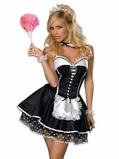 French Maid Costume, Complete Cosplay Dress Up - One Size (AU 8 - 12)
