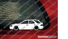 2x LOW 'Subaru Impreza wagon / hatchback GF8 WRX lowered outline stickers