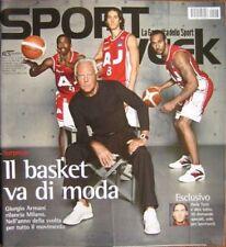 Sport Week-'04-GIORGIO ARMANI,Francesco Totti,Marco Pantani,Dimitri Salita,Woods