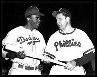 Jackie Robinson Ben Chapman Photo 11X14 Dodgers Racist Phillies Movie 42