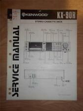 Kenwood Service Manual~KX-90R Cassette/Tape Deck/Player~Original Repair