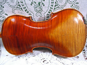 Gorgeous Old 19th Century German Labeled Violin 4/4 Ready to Play See Video! NR