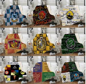 Harry Potter Hogwarts Slytherin Blanket Wearable Blanket Coral Velvet Carpe warm