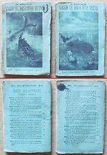 BROWN - VIAGGIO SUL DORSO D'UNA BALENA - Vol. I e II Completo - Ed Guigoni 1887*