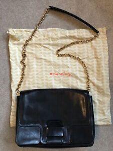 Orla Kiely, Leather Bag Navy