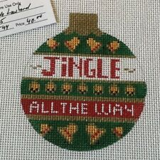 Jingle All the Way Ornament  HP Needlepoint canvas