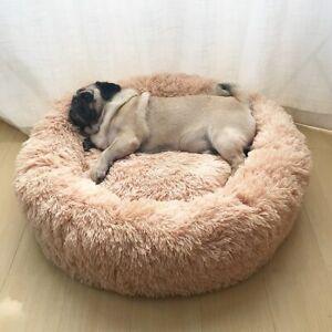 Super Soft Pet Bed Kennel Dog Round Cat Winter Warm Sleeping Bag Long Plush