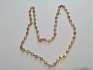 Swarovski Bezel Set Multi Colour Crystal Necklace