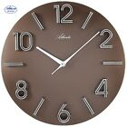 Atlanta 4397/3 Reloj de pared Cuarzo análogo marrón redondo ø 30 cm