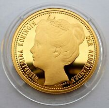 Netherlands 2 1/2 Gulden 1898 Silver Coin Proof with 24k Gold Plated (T24)