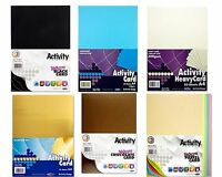 A4 160gsm / 200gsm  Activity Cards Craft Art Coloured Paper Card 25/40/50 Sheets