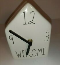 Rae Dunn By Magenta Ceramic Birdhouse WELCOME ceramic clock XX