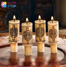WINE BOTTLE CORK CANDLES SET ROMANTIC DINNER HOME DECOR YELLOW ORIGINAL GIFTS
