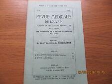 Revue Médicale de Louvain N°4 1933 La prophylaxie des maladies contagieuses
