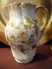 Pitcher / Vase: Antique POINTONS Stoke on Trent England Hand Painted DAISIES