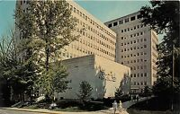 BLOOMINGTON INDIANA BALLATINE HALL AT UNIVERSITY POSTCARD c1965