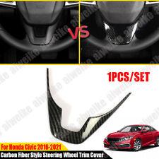 Carbon Fiber Style Car Steering Wheel Trim Cover For Honda Civic 10th 2016 -2021