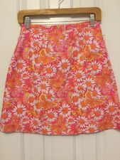 Lilly Pulitzer Skirt pink orange floral butterfly print size 4 lined vintage 2