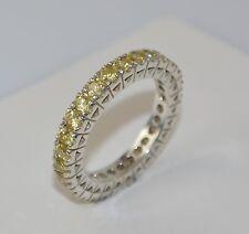 schöner Memory-Ring - mit gelben Zirkonia / 925er Silber