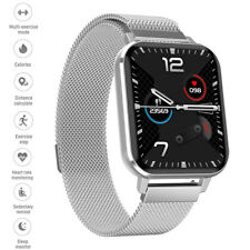 Smart Watch Bluetooth Stainless Steel Wristband Heart Rate Monitor for Cellphone