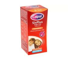 Calpol Six Plus Pain Relief Suspension Sugar Free Stawberry 6yrs+ 60ml Exp 01/18