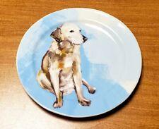 Sally Muir Anthropologie Dog-a-Day Stoneware Dessert Plate Yellow Lab Retriever