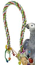 New listing 1115 Large Rope Charm Perch Bird Toy parrot cage toys cages amazon conure pet