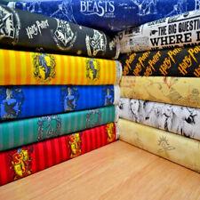 HARRY POTTER Fabric 100% cotton material Hogwarts Logo Marauders Map Craft dress