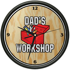 DADS WORKSHOP Wall Clock father mechanic garage gift