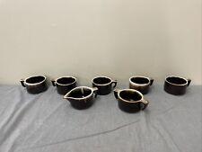 Pfaltzgraff Coffee Brown Drip Glaze Mug Set Of 5 + Sugar Creamer FS Bnfts Chrty