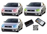 for Scion tC 05-07 RGB Multi Color Bluetooth LED Halo kit for Headlights