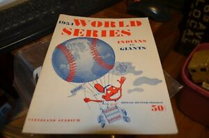 1954 World Series Program New York Giants vs Cleveland - UNSCORED - Mays/Wertz