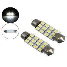 2x 42mm Car Dome 3528-SMD 12 LED Interior Lamp Festoon Bulb Reading White Lights