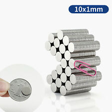 10x1 Mm N35 Neodymium Disc Super Strong Round Neo Craft Magnet 10mm Dia X 1mm
