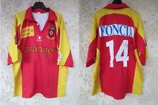 Maillot rugby USAP PERPIGNAN 2003 porté n°14 vintage GILBERT shirt dédicacé XL