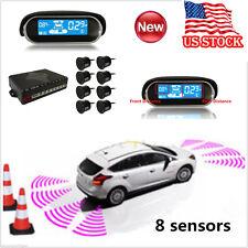 Car LCD Display 8 Parking Sensor Rear View Reverse Backup Front Radar System Kit