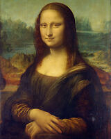 Leonardo Da Vinci The Mona Lisa Louvre Paris Painting 8x10 Real Canvas Art Print