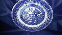 """MAASTRICHT 9"""" BLUE WILLOW TRANSFER WARE PLATE PETRUS REGOUT-SPHINX MARK-HOLLAND"""