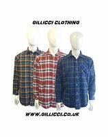 Mens 100% Cotton Long Sleeve Yarn Dyed Flannel Lumberjack Check Brushed Shirt